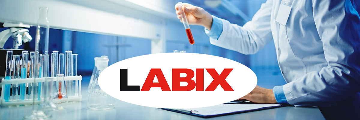 fondo muestra y logo LABIX